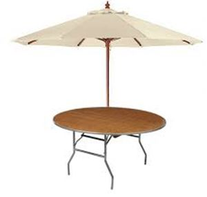 Picture of Garden Party Table w/market umbrella 60""
