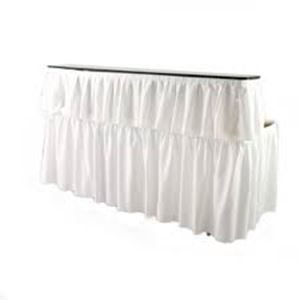 Picture of Beverage Bar Skirted White 6'
