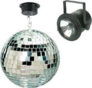 Picture of Miscellaneous Mirrored Ball with Motor 2 Spots