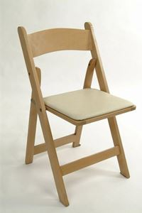 Picture of Chair Natural Wooden - Padded