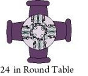 """Picture of Table Round 24"""""""