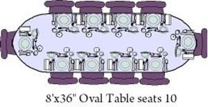 Picture of Table Oval 8'