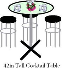 "Picture of Table Cocktail Tall with 36"" Top"